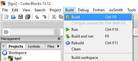 TGUI: CodeBlocks